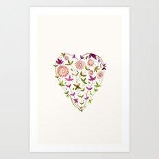 GARDEN HEART - PURPLE Art Print