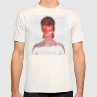 Bowie : Aladdin Sane Pixel Mens Fitted Tee Natural SMALL