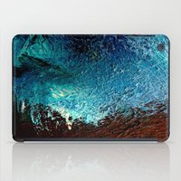 Abstract blue, white and purple painting photography iPad Case