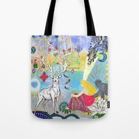 The Lovers and the blue deer  Tote Bag