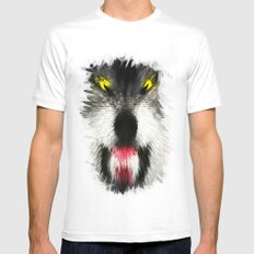 MAD WOLF Mens Fitted Tee White SMALL