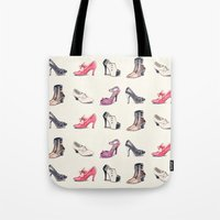 Vintage Shoes Pattern Tote Bag
