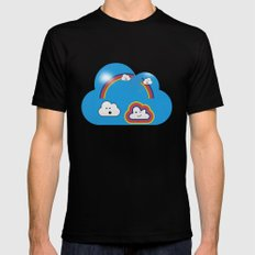 The Great Rainbow Cloud Robbery Black Mens Fitted Tee SMALL