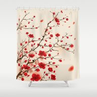 Oriental Plum Blossom In… Shower Curtain