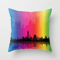 Urban Rhythm Throw Pillow