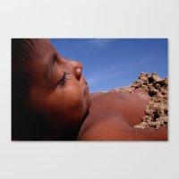 Wittos (Blue) Little Indian Sand Boy  Canvas Print