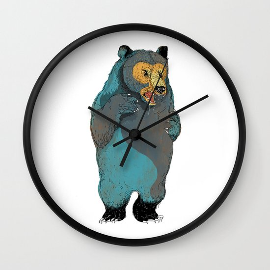Mr.Grizzly Wall Clock