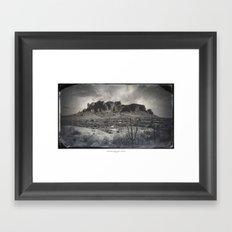 Superstition Mountain - Arizona Desert Framed Art Print