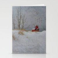 Winter Lighthouse Stationery Cards