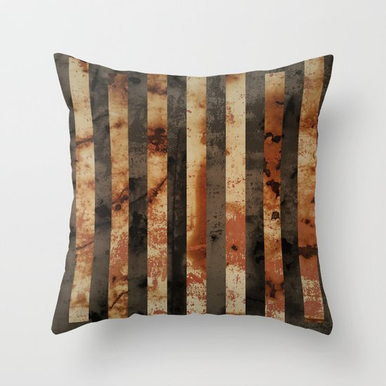 Rusty barrel abstraction Throw Pillow