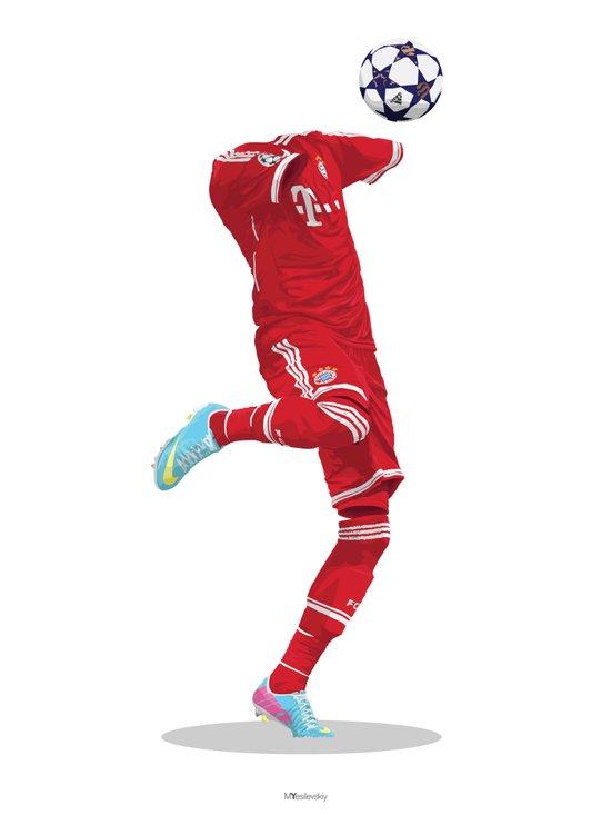 Bayern Munich 2013/14 - (2012/13) Champions League Winners. Art Print