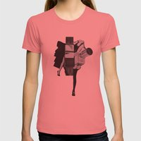 Wisconsin Avenue Womens Fitted Tee Pomegranate SMALL