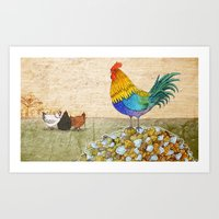 The Cockerel and The Jewel Art Print