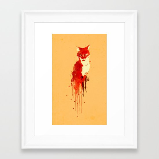 The fox, the forest spirit Framed Art Print