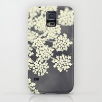 Galaxy S5 Cases featuring Black and White Queen Annes Lace by Erin Johnson