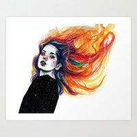 Phoenix Girl Art Print