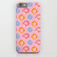 iPhone & iPod Case featuring sweet things: doughnuts (pink) by cardboardcities