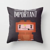Space-cation Throw Pillow