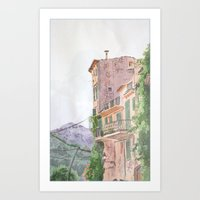 italy Art Prints featuring Italy by shennyche