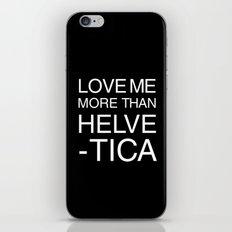 Love Helvetica iPhone & iPod Skin