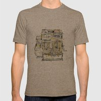 Cash In Mens Fitted Tee Tri-Coffee SMALL