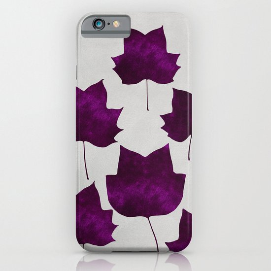 Mapleleaf Purple iPhone & iPod Case