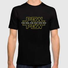 Pew Pew v2 SMALL Mens Fitted Tee Black