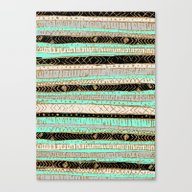 Canvas Print featuring XO Tribal Pattern Gold B… by Crystal ★ Walen