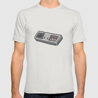 NES controller Mens Fitted Tee Silver SMALL