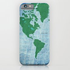 Mercator World Map iPhone 6 Slim Case