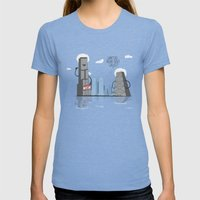 Whatchu' talkin bout willis Womens Fitted Tee Tri-Blue SMALL