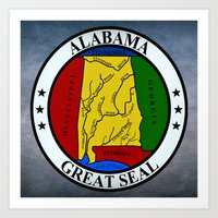 Alabama State Seal Clock… Art Print