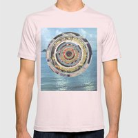 Round Sea Mens Fitted Tee Light Pink SMALL