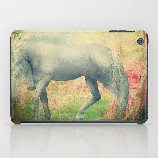 horse in a dreamy garden iPad Case