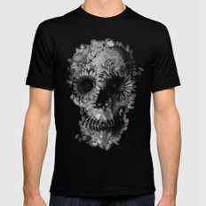 Skull 2 / BW Black Mens Fitted Tee SMALL