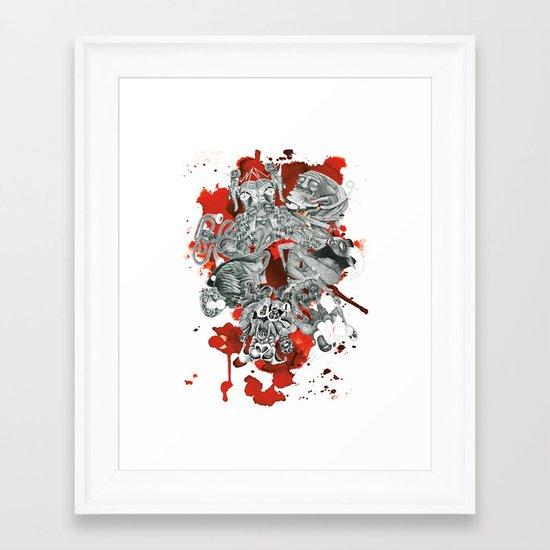 The seven deadly sins Framed Art Print