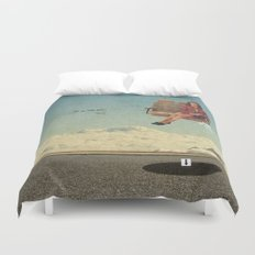 Up In The Air | Collage Duvet Cover
