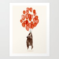 balloon Art Prints featuring Almost take off by Picomodi