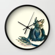 Wall Clock featuring Toothless by Alice X. Zhang