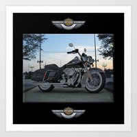 Harley Road King In #3ds… Art Print