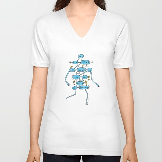 doubts and fears and hopes and dreams V-neck T-shirt