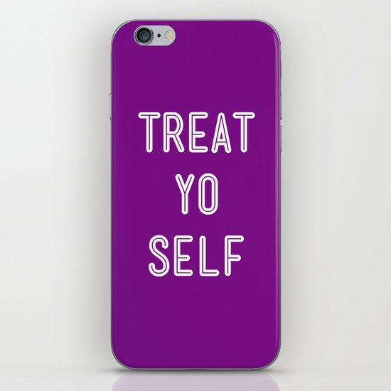 Treat Yo Self Purple - Parks and Recreation iPhone & iPod Skin