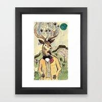 Stag Do Framed Art Print
