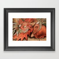 Love Or Death Framed Art Print