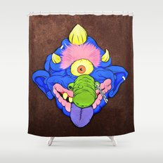 my pet madball Shower Curtain