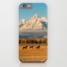 Horses Running in Grand Teton Slim Case iPhone 6s