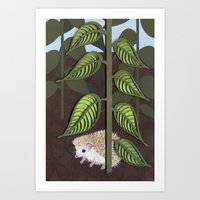 Hedgehog - Paper Art Pri… Art Print