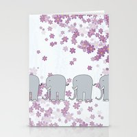 elephants Stationery Cards featuring Elephants by Ehud Neuhaus