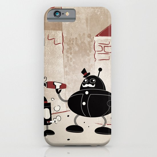 Smoke Break at the Clink Clang Detective Agency iPhone & iPod Case
