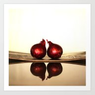 Onions And Reflections  Art Print